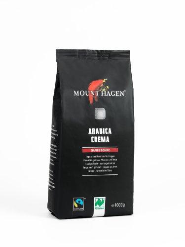 Mount Hagen Röstkaffee ganze Bohne FairTrade, 1er Pack (1 x...