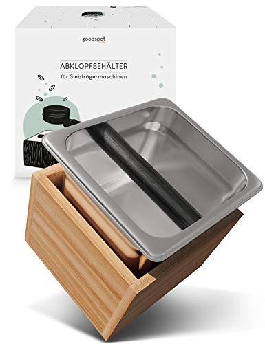 goodspot® Abklopfbehälter für Siebträger - aus Echtholz...
