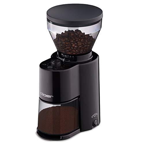 Cloer 7520 Elektrische Kaffeemühle mit Kegelmahlwerk aus...
