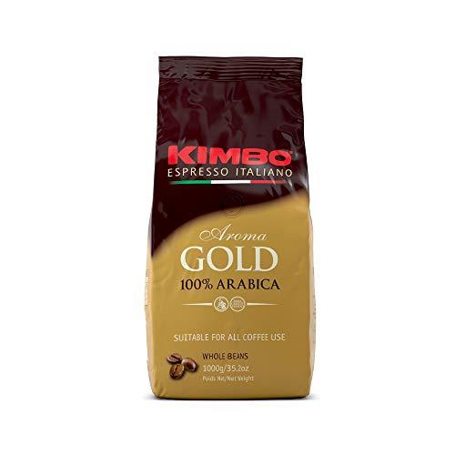 Kimbo Gold 100% Arabica ganze Kaffeebohnen, dunkle Röstung,...