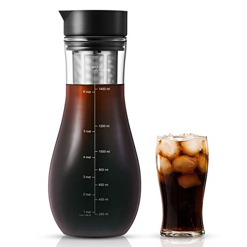 1,5L Kaffeebereiter für Cold Brew, Kaltbrüh-Kaffeemaschine...