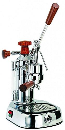 LA Pavoni Espressomaschine europic Co Lusso Chrom Holz...