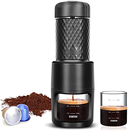 STARESSO Espressomaschine Tragbare Kaffeemaschine Manuelle...