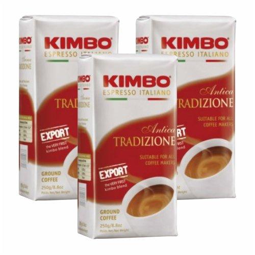 3x Kaffee gemahlen Kimbo Caffé 'Antica Tradizione', 250 g