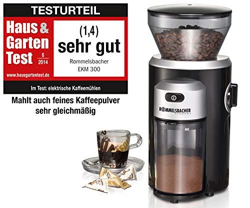 ROMMELSBACHER EKM 300 elektrische Kaffeemühle mit...