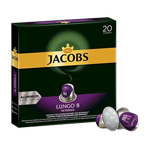 Jacobs Kaffeekapseln Lungo Intenso, Intensität 8 von 12,...