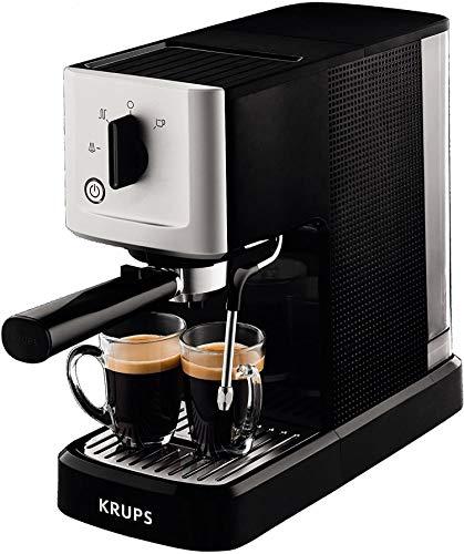 Krups Calvi Steam & Pump Espressomaschine XP3440 | Edelstahl...