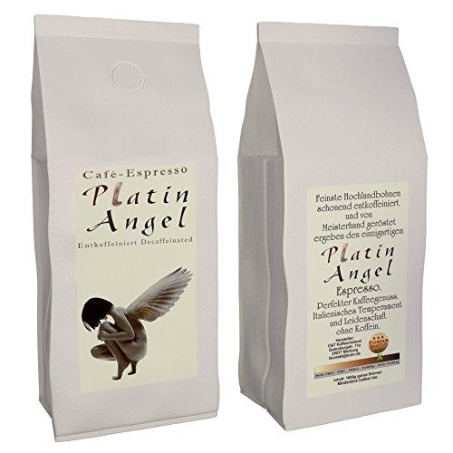Espresso / Cafe - Kaffeebohnen Entkoffeiniert 'Platin Angel'...