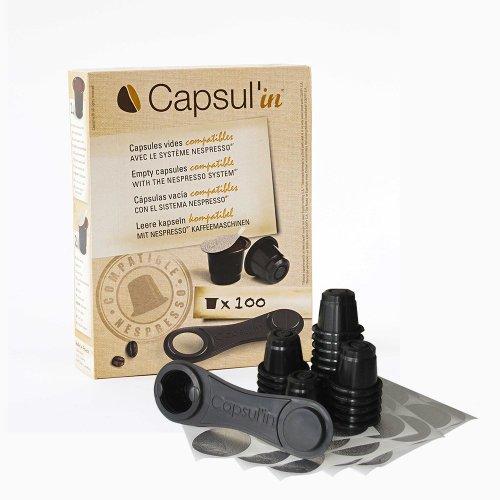 400x Capsul'in KaffeeKapseln für Nespresso ® Befüllbare...