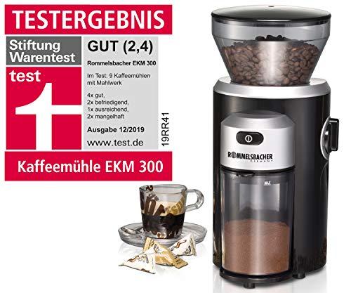 ROMMELSBACHER Kaffeemühle EKM 300 - Kegelmahlwerk aus...