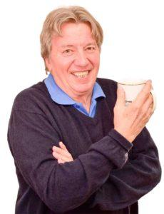 Norbi mit Kaffeetasse