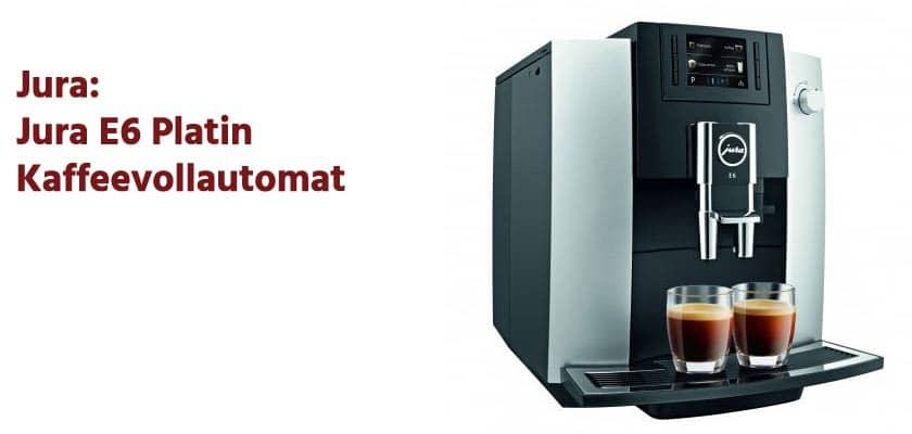 Jura E6-Platin Kaffeevollautomat