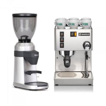 Espressomaschine Rancilio Silvia E & Espressomühle nach Wahl im Set