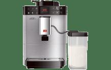 MELITTA F 580-100 Caffeo Varianza CSP Kaffeevollautomat Edelstahl (Stahl-Kegelmahlwerk, 1.2 l Wassertank)