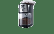 SEVERIN KM 3874 Kaffeemühle Schwarz/Silber (100 Watt, Edelstahl-Scheibenmahlwerk)