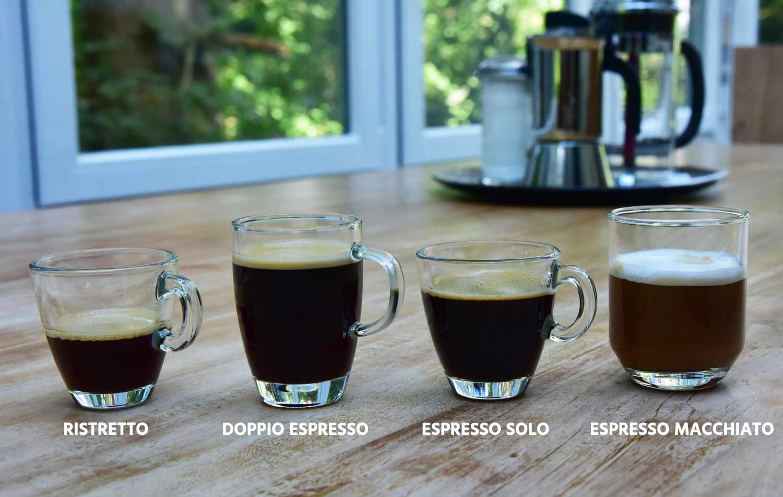 Espressos in der Übersicht