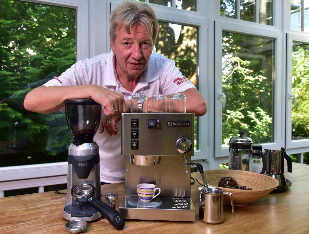 Rancilio-Silvia und Graef Espresso-Mühle