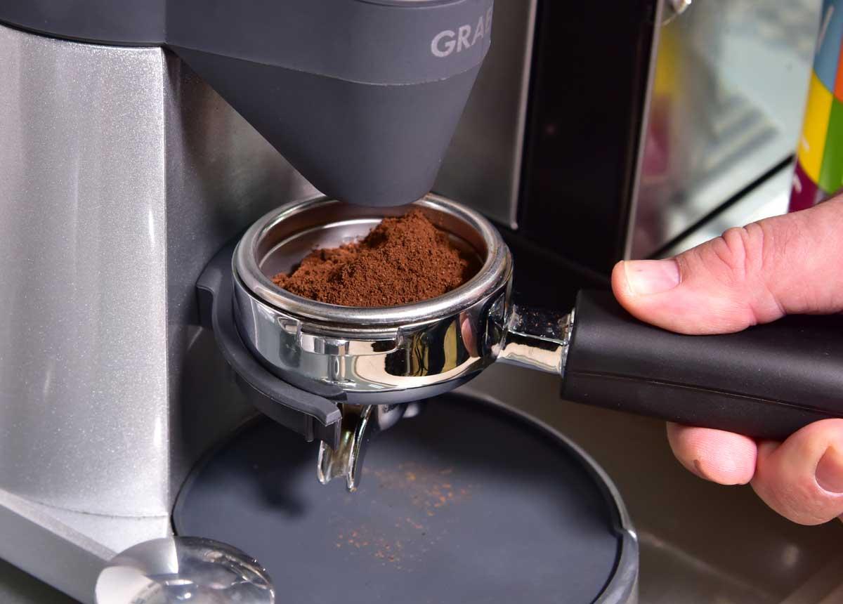 Rancilio-Silvia Siebträger und richtige Menge Kaffeepulver