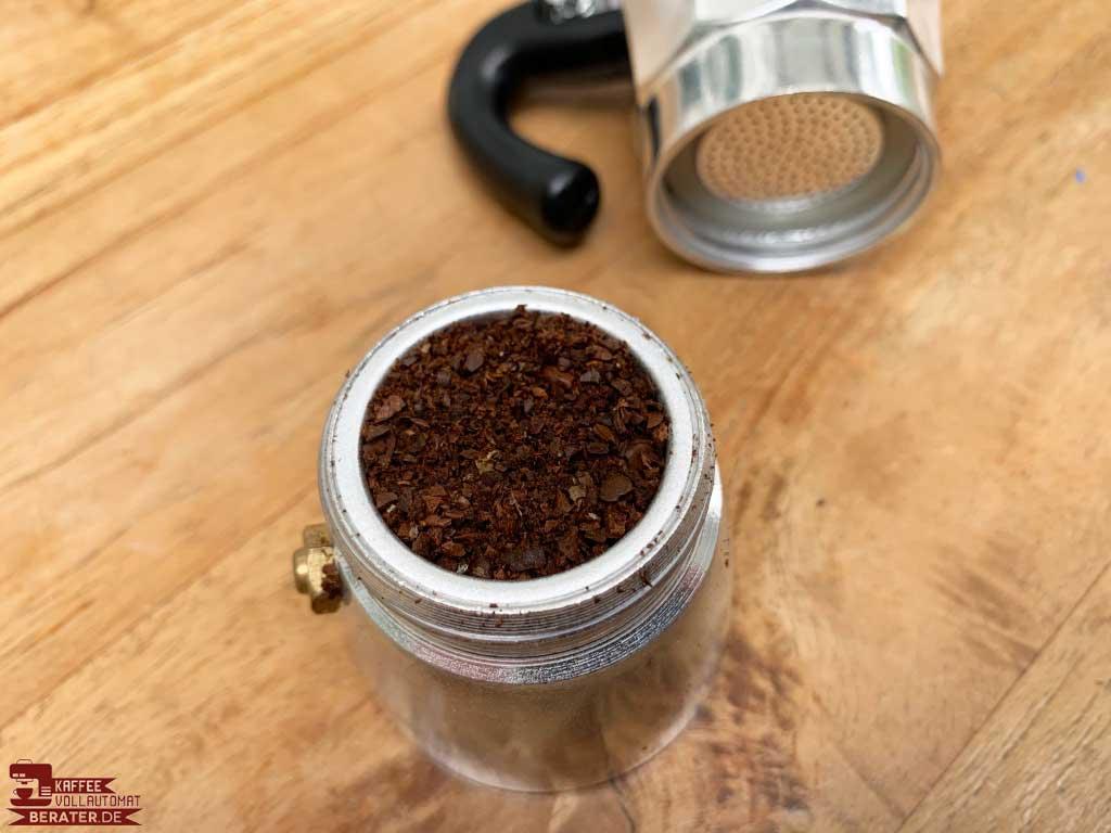 Espressokocher: Mahlgrad der Bohnen
