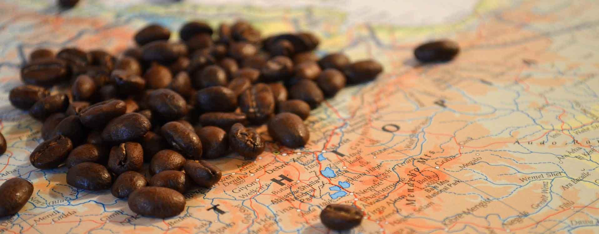 Herkunft des Kaffees