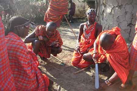 Kaffee aus Kenia und Masai Kämpfer