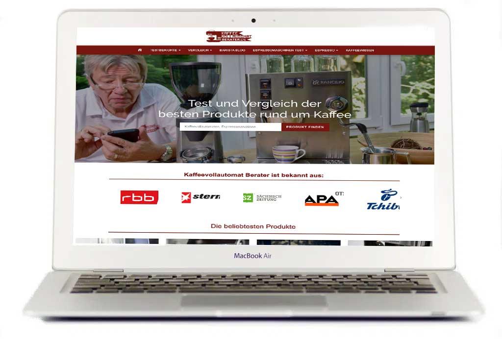 MacBook-Webseite