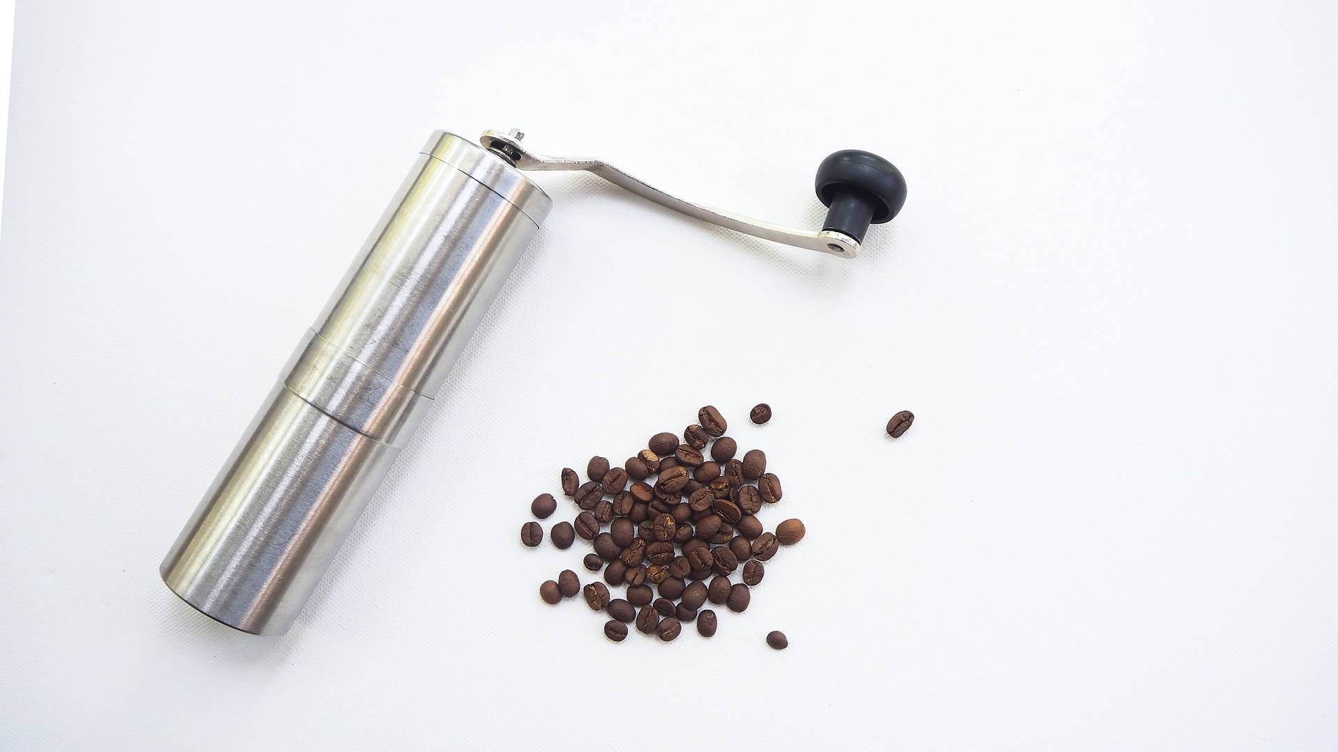 Handkaffeemühle aus Metall
