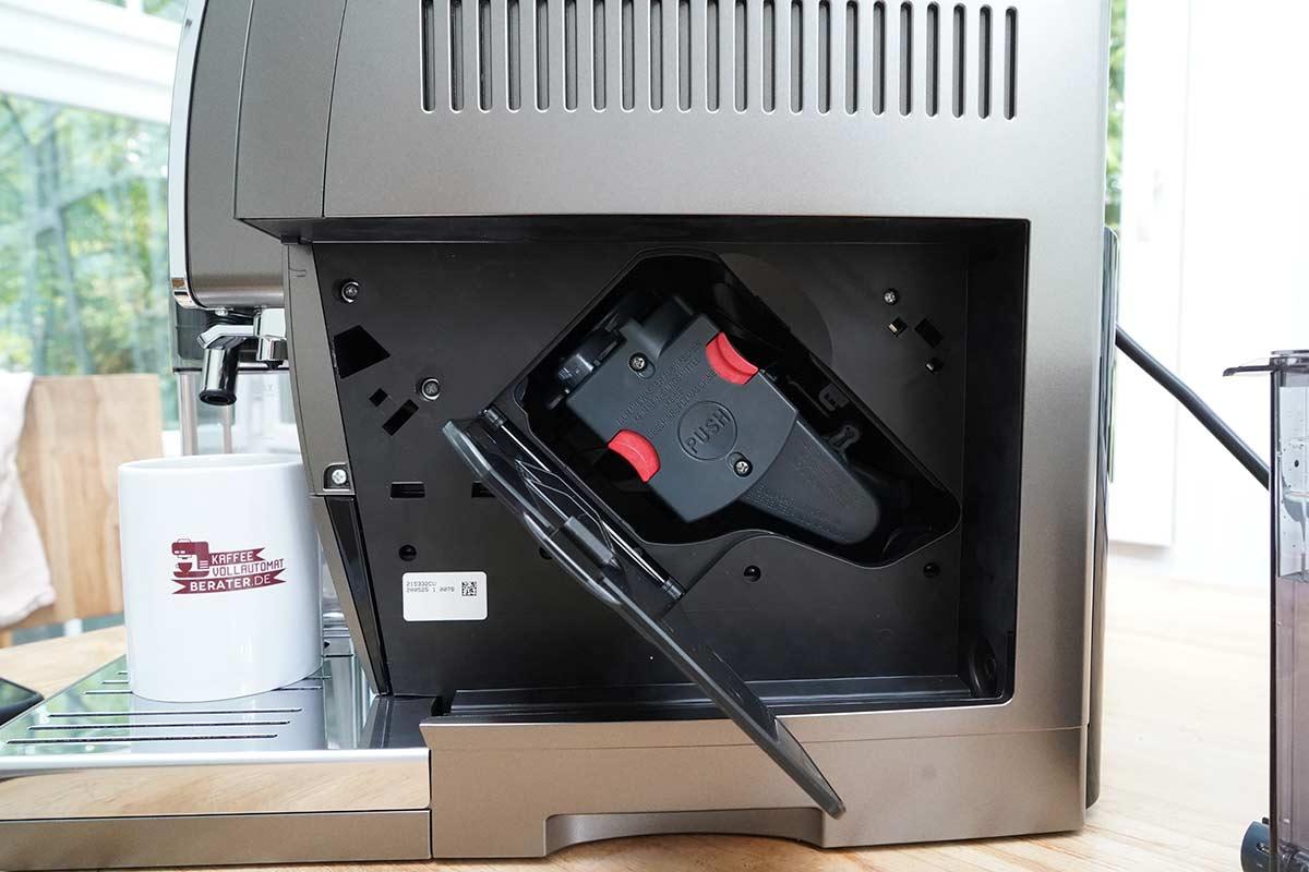 DeLonghi-Dinamica-Plus: Brühgruppe im Kaffeevollautomat